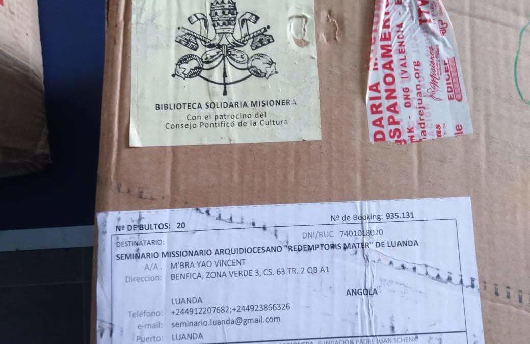 Confirmación de recepción del pedido con destino a nuestro Seminario Redentoris Mater de Luanda