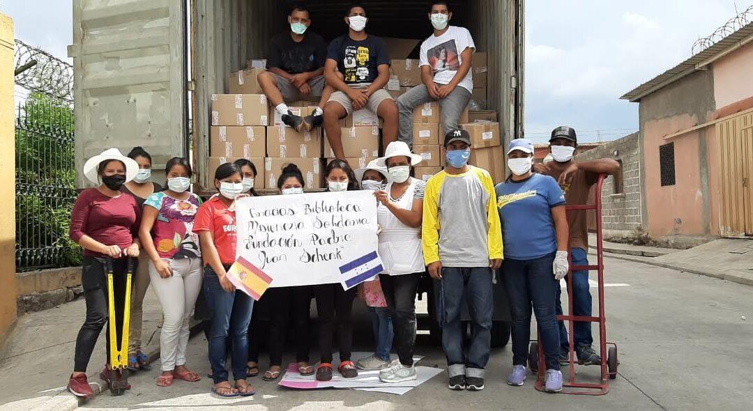 Recepción de material en Honduras