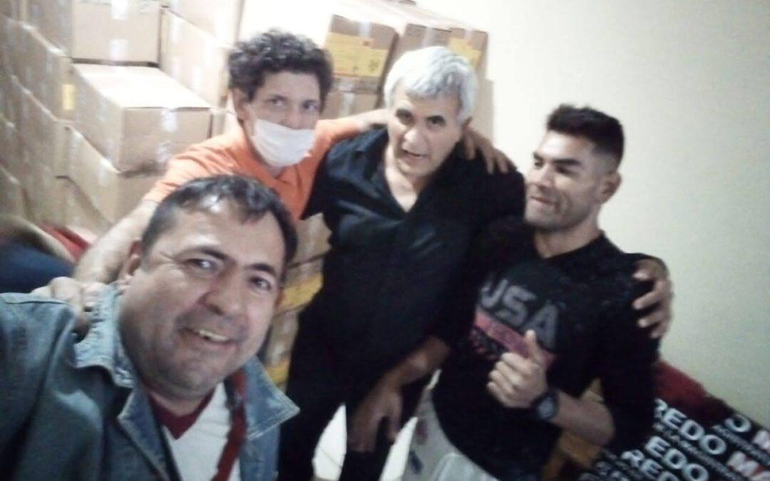 Recepción de envio de libros en Paraguay